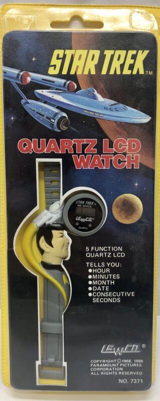 Star Trek Quartz LCD Spock Watch Vintage 1986 Lewco New Old Stock