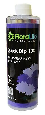Floralife 80-03785 Quick Dip 100 Instant Hydrating Treatment (16 Fl Oz)