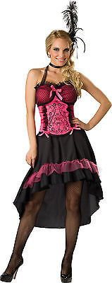 Adult Showgirl Burlesque Dancer Saloon Gal Wild Western Can Can Girl Costume  - Saloon Gal Costume