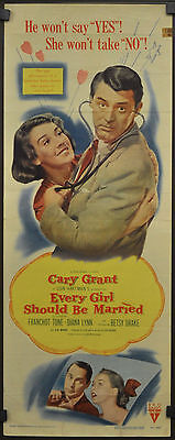 EVERY GIRL SHOULD BE MARRIED 1948 ORIGINAL 14X36 MOVIE POSTER CARY GRANT