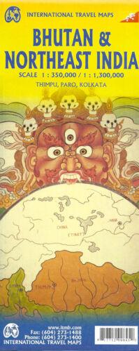 Map of Bhutan & Northeast India, by ITMB