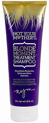 5 Not Your Mothers BLONDE MOMENT TREATMENT SHAMPOO Enhances Shine 8 oz BX4