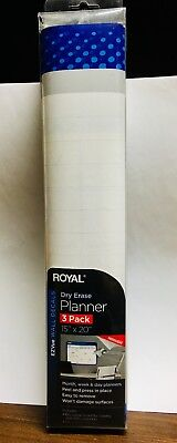 New Dry Erase Planner 3 Pack 15 X 20 Mo Wk Day Planners Decals