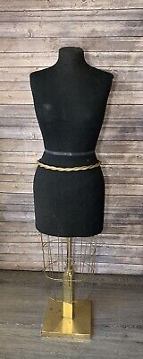 Vintage Adjustable Height Female Dress Form Brass Base Mannequin Boutique