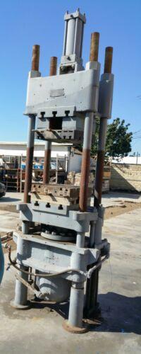 "Used 100+ ton hydraulic Dunning & Boschert press  20""x22"" platen size"