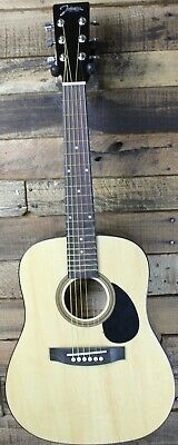Johnson JG-610-R  1/2 Size Acoustic Travel Guitar, Natural #R5618