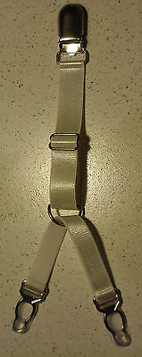 1 Halter Straps Links die Einheit Klammer Y Abnehmbar Elastisch Weiß Metall