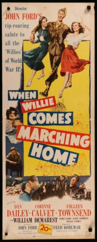 When Willie Come Marching Home (1950) - original insert movie poster - John Ford