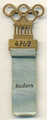 Berlin Olympic Games 1936 Participant Badge Boat Racing