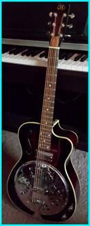 Acoustic Electric Resonator Slide Guitar SX Dark Brown($499 new)