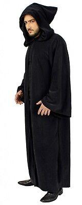Kostüm schwarze Kutte Umhang mit Kapuze schwarzer Mantel Halloween - Schwarze Kapuzen Kostüm