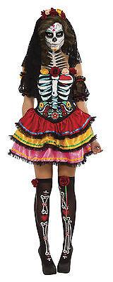 Day of the Dead Senorita Muerta Costume Womens Dia De Los Muertos Size XLarge (Womens Dia De Los Muertos Kostüme)