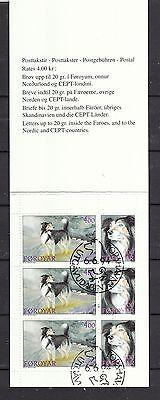 Färöer gestempelt 1994 Markenheft  MiNr. 7  Inhalt 3x MiNr. 262-263  Hütehund