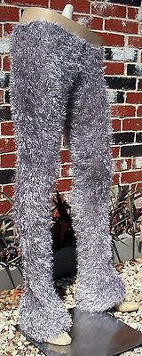 Silver Magic Fuzzy Pants Grey Gray Fox Wolf Tabby Cat Satyr Animal Legs S M L (Grey Fox Kostüm)