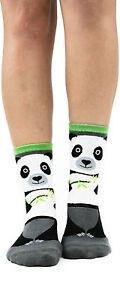 Panda Bear Foot Traffic Slipper Socks Non-Skid New Women's Size 9-11 Fashion