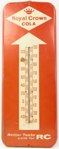 Vintage 1958 Royal Crown Cola Better Taste Calls For RC Metal Thermometer