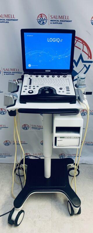 GE LOGIQ E BT12 R7 (2015) Portable Ultrasound Machine w/ 3 Probes & Trolley