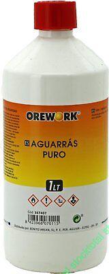 2 L AGUARRAS PURO Disolvente para pintura sintética, limpieza brochas 367407
