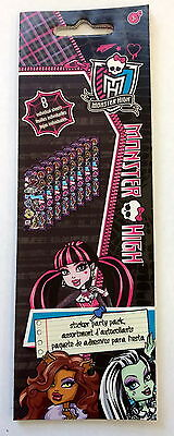 8 Sheets Monster High Stickers Party Favors Teacher Supply  - Monster High Partys