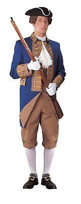 American Revolution Offizier Erwachsene Herren Kostüm Marineblau Gabardine