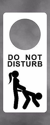 Funny Femdom Dominatrix Strapon Pegging Do Not Disturb Door Sign