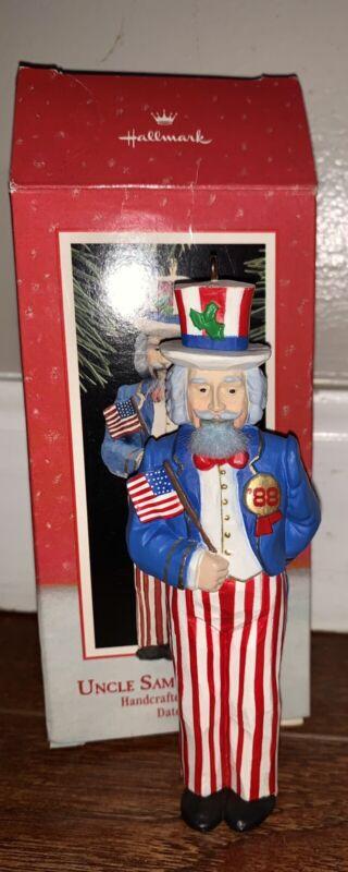 Hallmark Christmas Ornament Uncle Sam Nutcracker Patriotic American 1988 Vintage