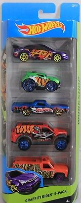 Hot Wheels Graffiti Rides Diecast Car 5 Pack