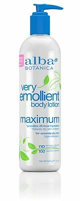 Alba Botanica Very Emollient Maximum Body Lotion, 12 oz.