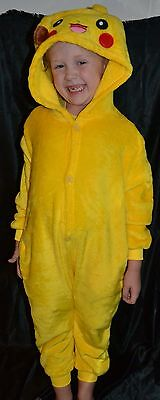 Pikachu Pokemon Full Halloween Costume Fits Kids Size 10-11-12 L Girls Or Boys (Pikachu Girl Or Boy)