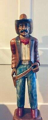 Wooden Cigar Store Western Art Cowboy Statue - Hand Carved from Solid (Wooden Wood Store)