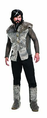 Zoolander No. 2 Derek Adult Costume Grey Faux Fur Jacket Boot Tops Mens - Zoolander Jacket