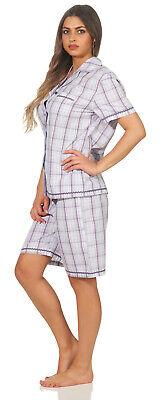 Damen Seidensticker / Schiesser  Schlafanzug Pyjama kurz gewebt  SK388 - Baumwolle Gewebte Pyjama-set