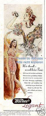 Warner´s Legant Reklame 1941 !! Unterwäsche BH Mieder Spanierin Kastagnetten ad