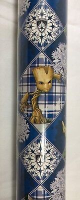 Guardians of the Galaxy Christmas Gift Wrapping Paper 70 Sq Ft Roll Wrap Groot