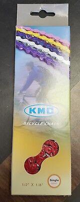 Single Speed BMX YBN S410 Yellow Bike Chain Teflon 1//2 x 1//8 x 116L Fixie