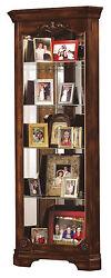 Howard Miller 680-404 (680404) Constance Lighted Curio Cabinet - Hampton Cherry