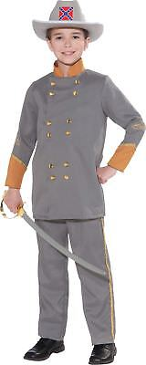 Confederate Officer Child Costume Civil War Boys Soldier Robert Lee Halloween (Confederate Halloween Costume)
