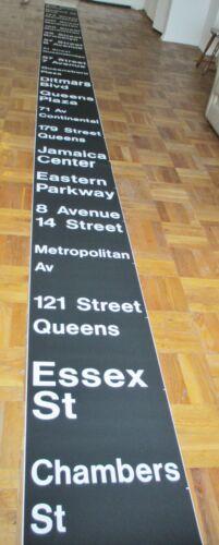 Vintage New York R-30 Subway Car Front Destination Roll Sign IND Train Mylar