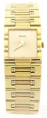 Ladies PIAGET 18K Yellow Gold 81317K81 Dancer Square Watch MSRP $15,000.00