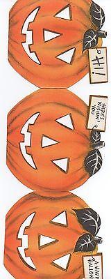 1960s Hallmark Cards Triple Halloween Pumpkin - 1960s Halloween Cards