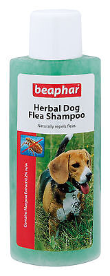 Beaphar Dog Flea Herbal Shampoo Treatment for Dogs Puppies Killing Fleas 250ml