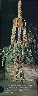 Vtg 1976 Natural Jute Earthy Plant Hanger Patterns in Macrame Plus Book - Macrame Plant Hanger Patterns