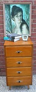 Retro Vintage Bedside Table Chest of drawers circa 1960's Wantirna South Knox Area Preview