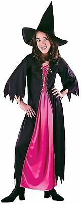Girls Pink Witch Costume Halloween Fancy Dress Wendy Robe Kids Child S M NEW