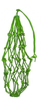 "Showman LIME GREEN Heavy 42"" Cotton Rope Hay Net / Hay Bag! NEW HORSE TACK!"
