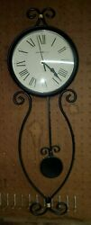 Howard Miller Ivana Wall Clock 625-495 – Modern Wrought-Iron with Quartz...