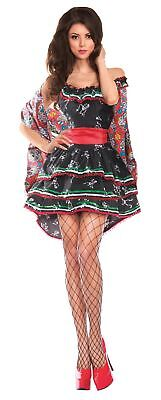 Party King Women's Day of the Dead Muerta Costume - Women Day Of The Dead