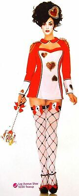Leg Avenue Card Guard Sexy Halloween Costume Cosplay Dress Head Piece Hearts S