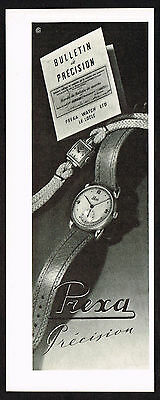 1940's Vintage 1946 Prexa Watch Co. Watches  - Paper Print AD