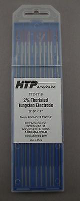 10 2 Thoriated Tungsten Tig Weld Electrodes 116 X 7